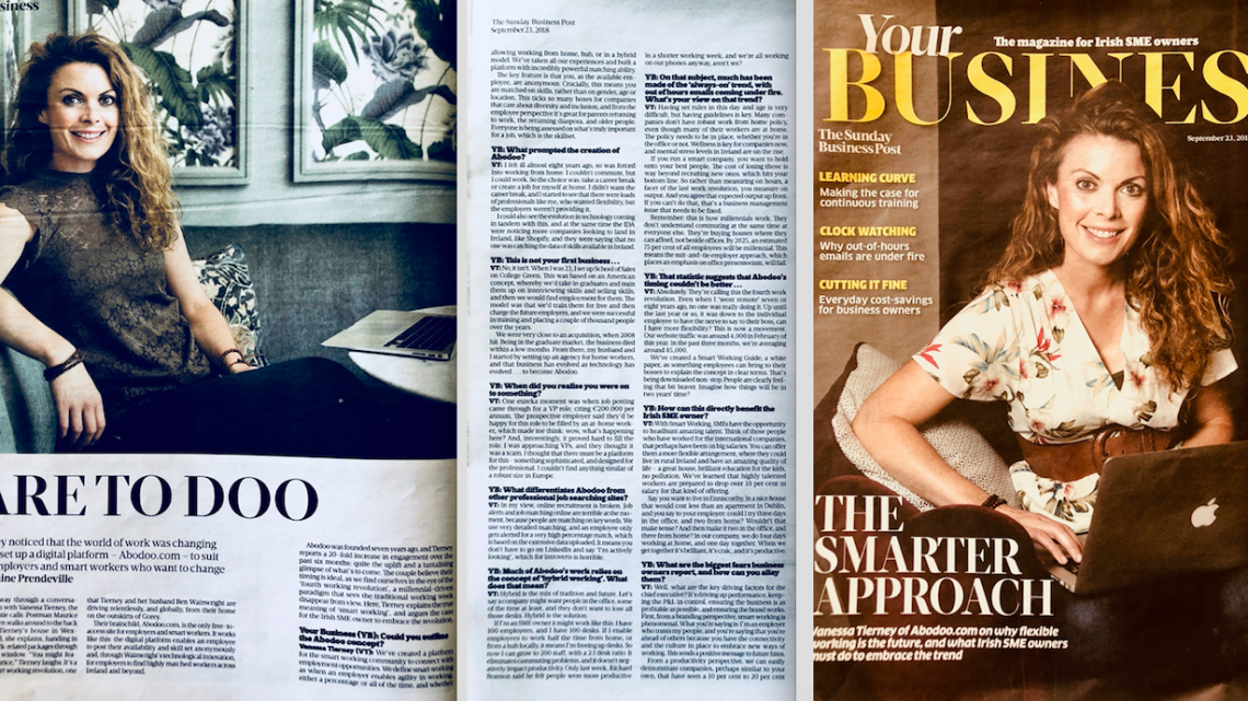 Dare to Doo – Abodoo on The Sunday Business Post