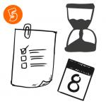 tasks list, hourglass, calendar