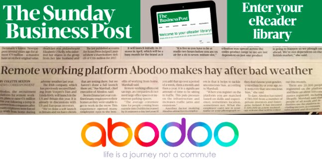 PRESS: Sunday Business Post – Abodoo Remote Working Platform