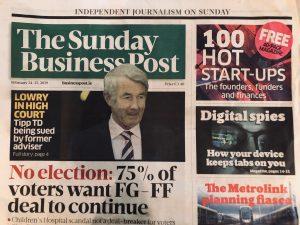 Sunday Business Front Page Feb 2019