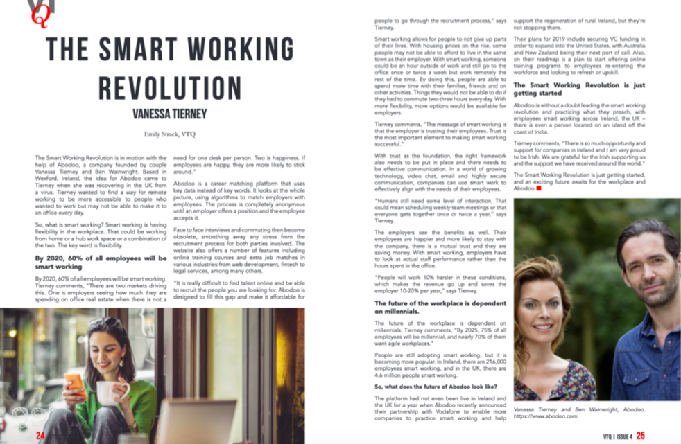 VTQ Magazine – The SmartWorking Movement