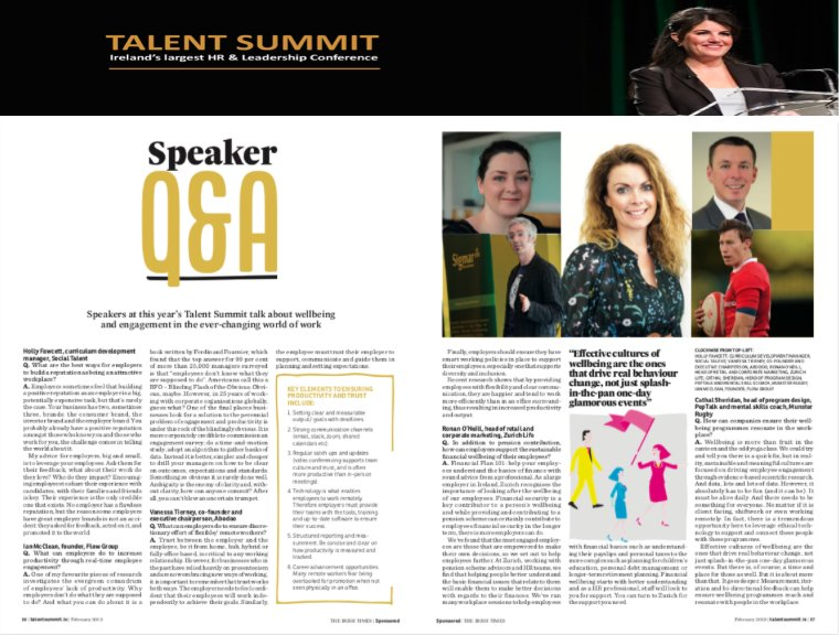 Irish Times Talent Summit Interview