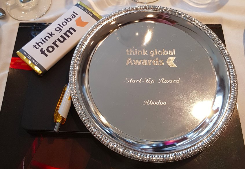 Abodoo wins the Think Global Forum Start-Up Award